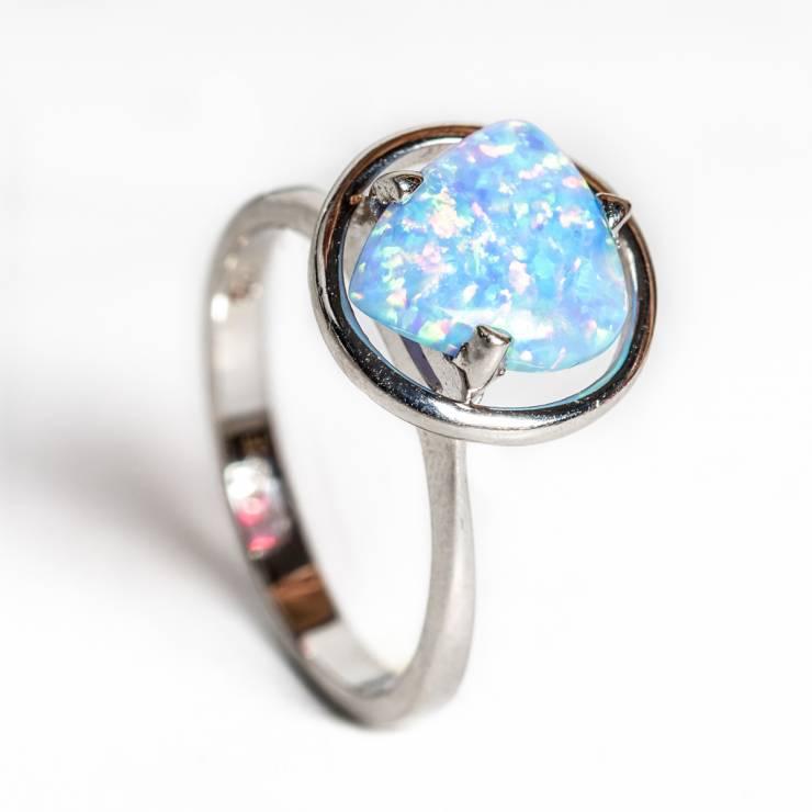 Inel opal blue 89 lei (size 15,20)